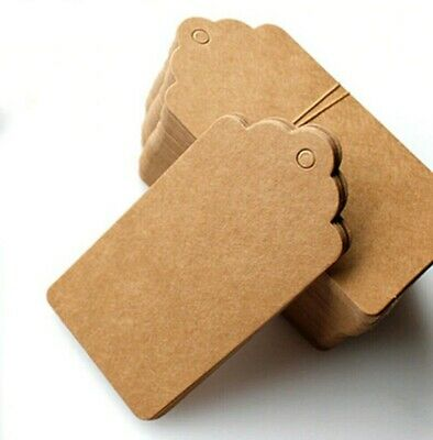Eco Kraft Small Brown White Black Price Paper Tags Card Label 100 Per Pack • 2.49£