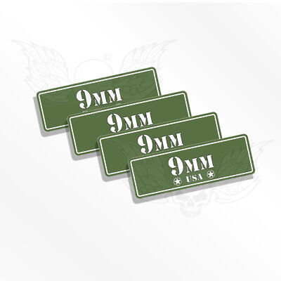 $ CDN4.35 • Buy Ammo Can Decals - 9MM  Set Of 4 Ammo Can Stickers - Labels For Ammo 9 MM    OD