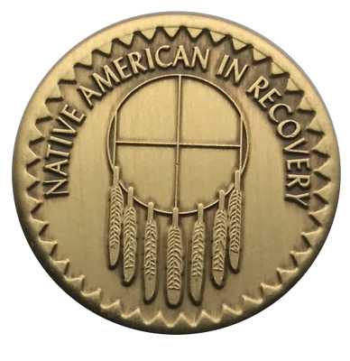 $4.75 • Buy Wendell's Native American In Recovery Bronze Alcoholics Anonymous AA Coin Token