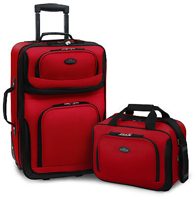 View Details Carry-on Rio Red Rolling Lightweight Expandable Suitcase Tote Bag Luggage Set • 59.99$