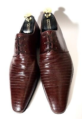 $ CDN695.05 • Buy $3000 Artioli Brown Lizard Leather Shoes Size 42,5, UK-8,5, US-9,5