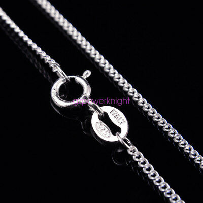 £9.99 • Buy 1.2mm Genuine Solid 925 Sterling Silver Curb Chain Necklace Italy 16-24 Inches