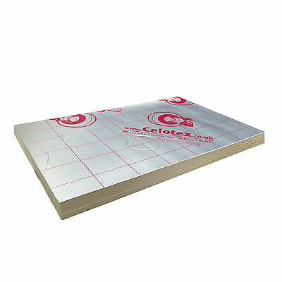 Celotex GA4100 Recticel GP Kingspan Insulation 2400x1200 100mm CHOOSE YOUR QUANT • 399.15£