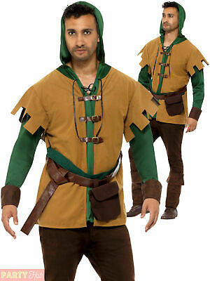 £13.95 • Buy Mens Robin Hood Costume Adults Prince Of Thieves Medieval Fancy Dress Outfit