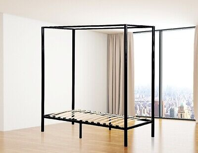 AU235.95 • Buy Classic 4 Four Poster Metal Bed Frame - Heavy Duty Bedroom Furniture