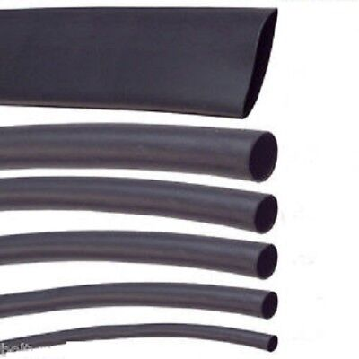 Black Heat Shrink Car Electrical Tube Sleeving Cable Various Sizes & Length • 1.84£