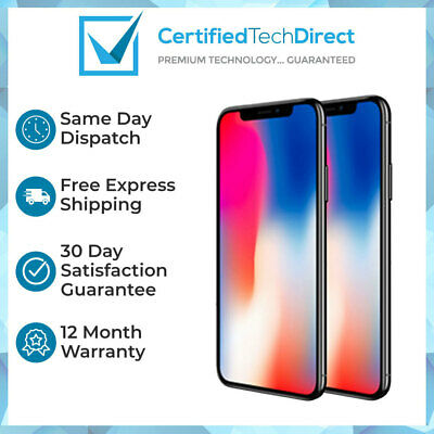 AU789 • Buy Apple IPhone X A1865 64GB 256GB Grey Silver AU Stock 6 Month Warranty