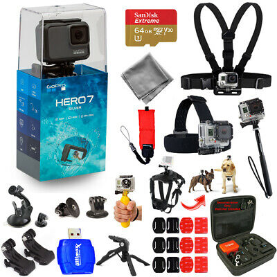 $ CDN341.28 • Buy GoPro HERO7 HERO 7 Silver Action Camera Mega Pro ALL YOU NEED Accessory Bundle