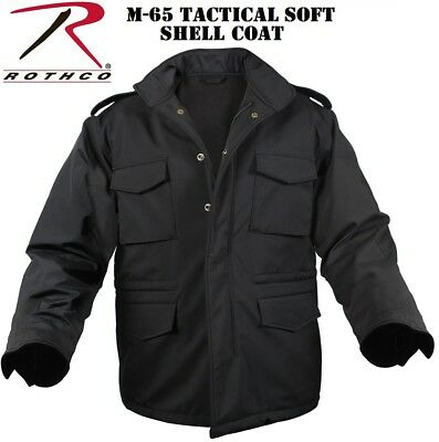 $94.99 • Buy Field Jacket M-65 Black Military Style Soft Shell Tactical Coat Rothco 5247