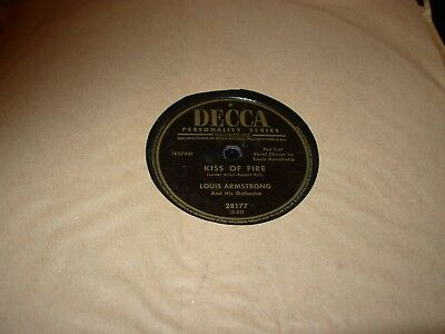 LOUIS ARMSTRONG I'll Walk Alone / Kiss Of Fire ( Jazz ) 78 Rpm Decca 28177 • 19.99$