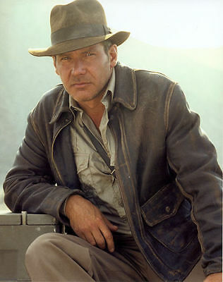 £72.71 • Buy Indiana Jones Harrison Ford Classic Genuine Motorcycle Distressed Leather Jacket