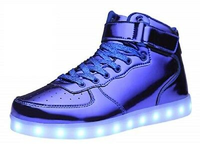 £7.20 • Buy MOHEM ShinyNight High Top LED Shoes Light Up USB Charging Flashing Sneakers