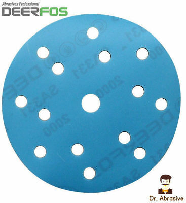 150mm Wet And Dry Sanding Discs 6 Inch DA Pads 40-3000 /15 Hole / Hook And Loop • 3.99£