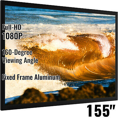AU342.97 • Buy VEVOR 155  393cm Projector Screen 16:9 Fixed Frame HD 4K Home Theatre 3D