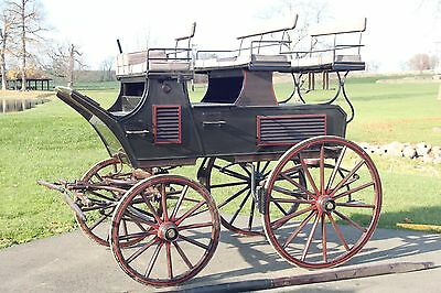 $12000 • Buy Horse Drawn Roof Seated Break Carriage Wagon Buggy Sleigh Cart Antique