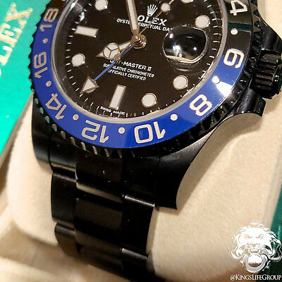 $ CDN29219.37 • Buy KingsLife Black ROLEX GMT Master II Batman 116710 In DLC / PVD