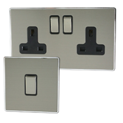 Lexus Screwless Brushed Steel Sockets And Switches • 14.60£