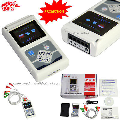 £230 • Buy NEW CE  Handheld 3 Channel ECG/EKG Holter Recorder Monitor System Software Hot