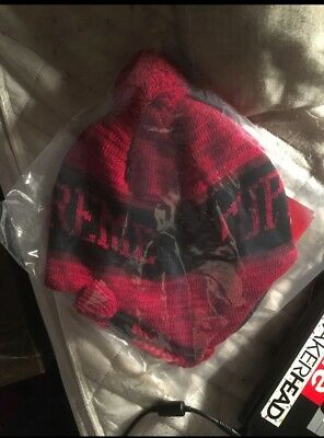 $ CDN80 • Buy NEW FW18 Supreme Heathered Earflap Beanie RED Hat