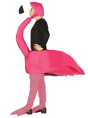 Adult Flamingo Costume Mens Ladies Novelty Animal Tropical Bird Fancy Dress Stag • 22.95£