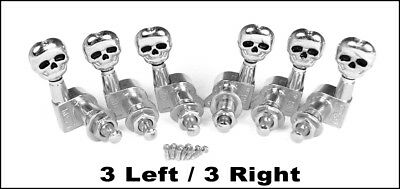 $ CDN19.99 • Buy Chrome Skull Electric Guitar Tuners/Machine Heads: 6pcs. 3 Left/3 Right