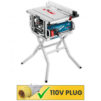 Bosch GTS10J 110V 254mm Professional Portable Table Saw With Lag Stand GTA 600 • 545£