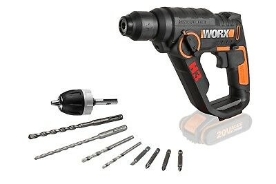 View Details WORX WX390.9 3-in-1 18V (20V MAX) H3 Rotary Hammer Drill - BODY ONLY • 79.99£
