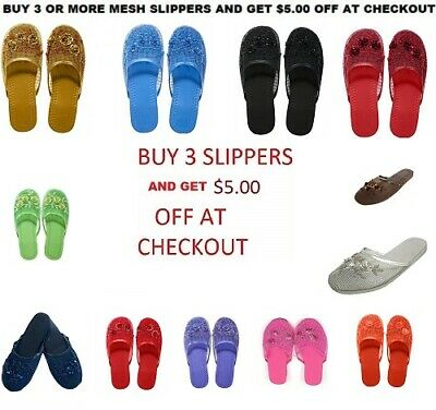 $7.99 • Buy Easy Women's Chinese Mesh Slippers ($5.00 OFF WHEN YOU BUY 3 OR MORE)
