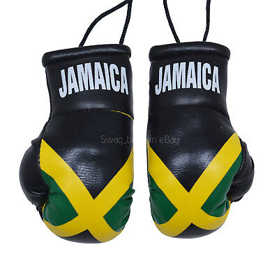 CAR Van Hanging Boxing Gloves JAMAICA DECORATION FLAG Mirror Office Accessory  • 5.99£