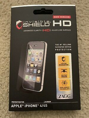 £2.53 • Buy ZAGG Invisible Shield Screen Protection IPhone 4 4S NEW