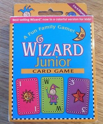 Family Fun   Wizard Junior  Card Game  For 3 To 6 Players Ages 8 And Up! • 6.99$