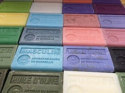 10 X French Soap Savon De Marseille + Olive Oil/shea + EUROPEAN POSTAGE INCLUDED • 32£