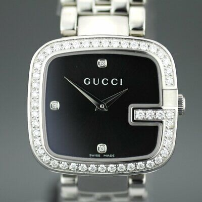 2c289ba2ba9 Elegant Gucci Ladies Wrist Watch With 1.01 Ct Diamonds Encrusted Bezel G- Gucci • 5