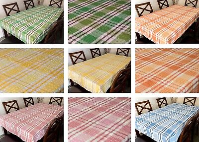 Seersucker Fabric Check Tablecloth 100% Cotton Kitchen Dining Table Linen • 5.99£
