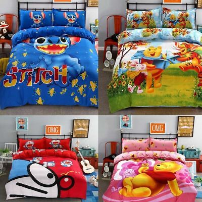 $38.93 • Buy Bedding Set Cartoon For Kids Stitch Bedclothes Covers 4 Pcs Full Queen Bed Sheet