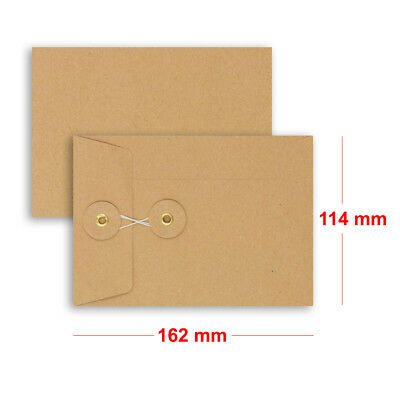 Brown String & Washer Bottom-Tie Envelopes Manilla C6 Size Cheap & Fast Delivery • 215.55£