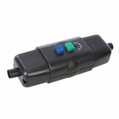 Power Master 469272 230 V 16 A 50 Hz In-Line Active Outdoor RCD - Black • 12.65£