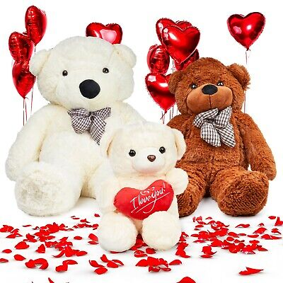 Giant Teddy Bear Valentines Day Love Heart Gift Girlfriend His Her I Love You  • 14.99£