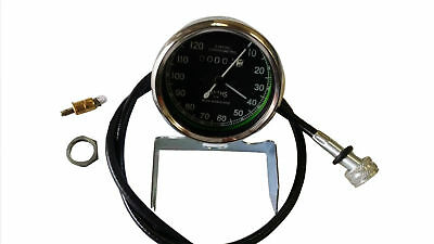 AU54.39 • Buy Smiths 0-120m Black Speedometer With Cable Royal Enfield, Bsa, Norton