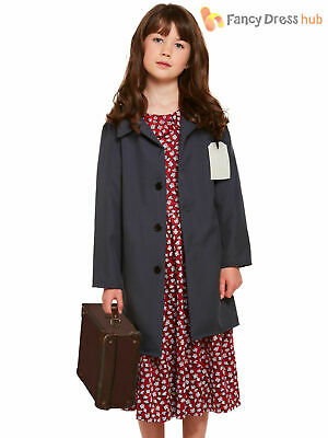Girls 1940s Wartime Costume Childs WWII Fancy Dress World War 40s Book Day Kids • 7.16£