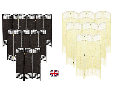£38.49 • Buy Hand Made Partition Folding Room Divider Separator Privacy Screen Choice Colour&