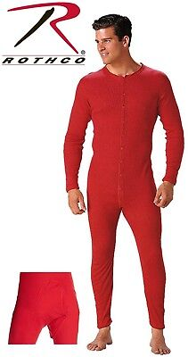 $37.99 • Buy Red Union Suit Thermals One Piece Long Johns Full Body Warm Winter Pajamas 6453