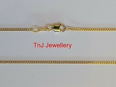 AU39 • Buy Solid 925 Sterling Silver Hard 9ct Gold Plated Diamond Cut Curb Chain Necklaces