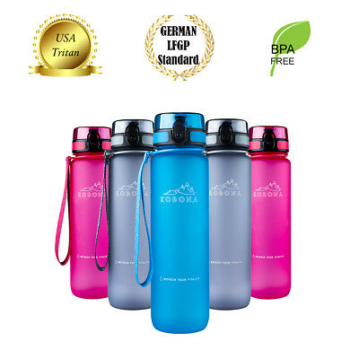 AU32.99 • Buy KOBONA 500ml Smart / 1L Time Marks Motivational Water Drink Bottle BPA-Free Gift