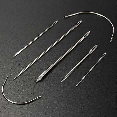7pc Sewing Needles Repair Kit Upholstery Carpet Leather Curved Canvas Patching • 2.19£