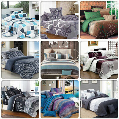 AU59.99 • Buy ARTISTIC Doube/Queen/King/Super King Size Bed Doona/Duvet/Quilt Cover Set New