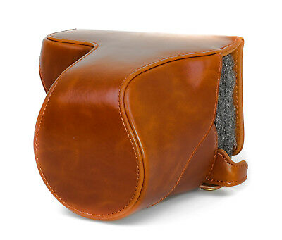 $ CDN45.50 • Buy Camera Case Case For Sony Nex A6000 Long Faux Leather Bag Brown CC1303c