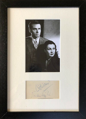 Vivien Leigh And Laurence Olivier Signed And Framed Autographs • 190£