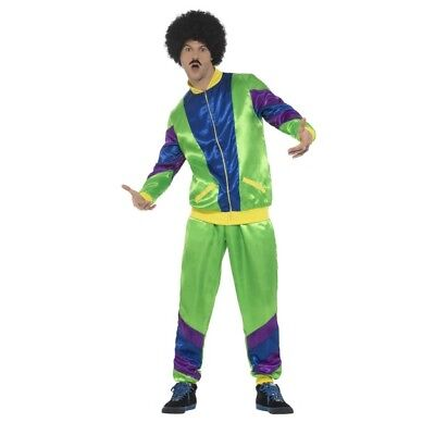 Men's 1980's Height Of Fashion Shell Suit Fancy Dress Costume Chave Stag Fun Do  • 29.46£