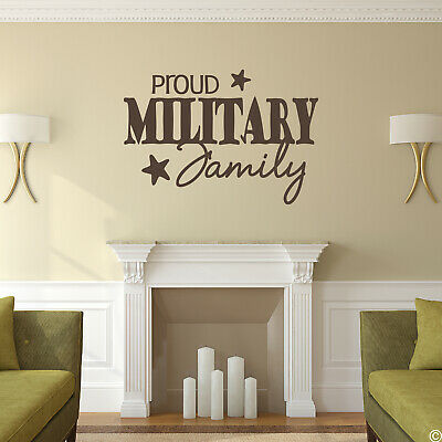 $14 • Buy Proud Military Family Vinyl Wall Decal Quote Army Marines Patriotic Sticker L097